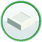 neo-led-square-surface-light-icon